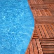 Fragment of a swimming pool - Stock Photo