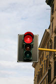 Red signal of traffic-light — Stock Photo
