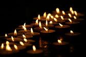 горящие свечи — Стоковое фото