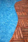 Fragment of a swimming pool — Stock Photo
