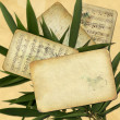 Stock Photo: Grunge old paper for design with bamboo