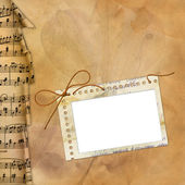 Frame for foto with musical background — Stock Photo