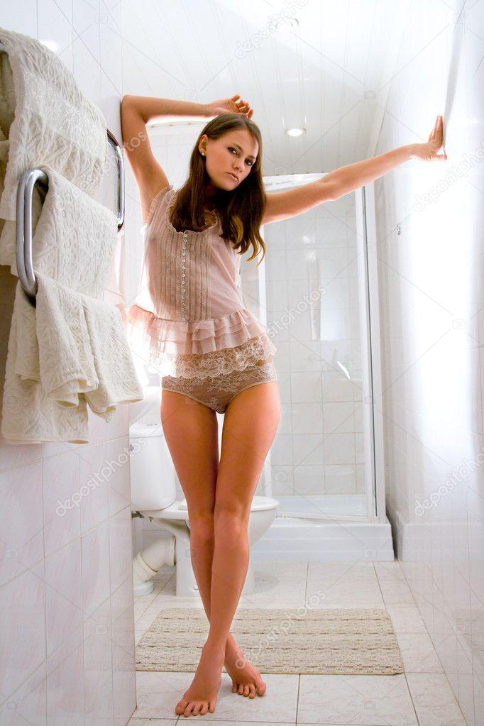 Alaskan girl in shower 6