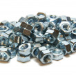 Many screw-nuts — Stock Photo