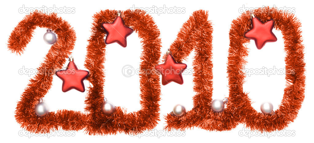 New year 2010, red stars — Stock Photo #1204486