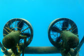 Propellers of submarine — Stock Photo