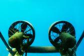 Propellers of submarine — Stock Photo