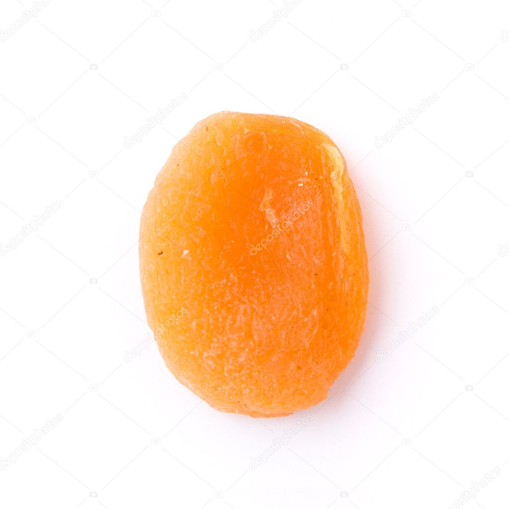 Dried apricots isoalted on white — Stock Photo #2325750
