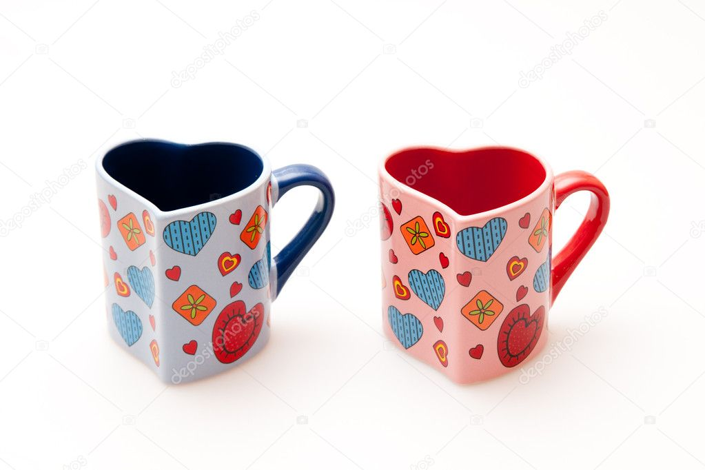 Two cup, shape of heart — Stock Photo #2469216