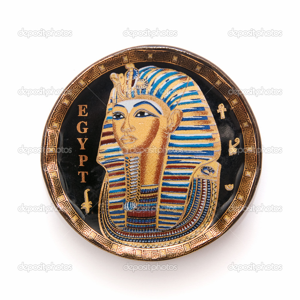 Egypt plate, egypt souvenir, isolated  Stock Photo #2529033