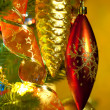 Christmas fir tree with colorful lights - Photo
