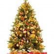 Стоковое фото: Christmas fir tree with colorful lights