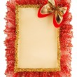 Christmas paper ribbon background — Stok fotoğraf