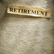 Royalty-Free Stock Photo: Headline retirement