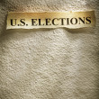 Headline U.S. ELECTIONS — Stock Photo
