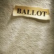 Royalty-Free Stock Photo: Headline ballot