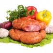 Foto Stock: Tasty sausages
