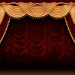 Red theater curtain - Lizenzfreies Foto
