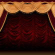 Stock Photo: Red theater curtain