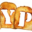 Royalty-Free Stock Photo: Isolated Letter of Toast alphabet