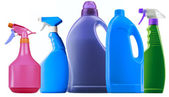 Detergent spray bottle — Stock Photo