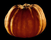 Pumpkin isolated on black background — Stock Photo