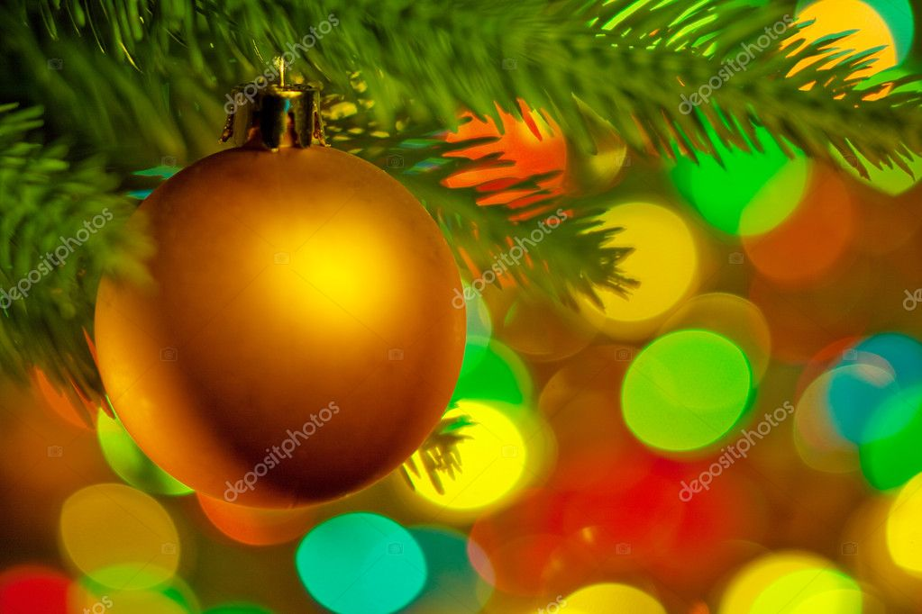 Christmas fir tree with colorful lights and decorations.  — Stock Photo #1333945