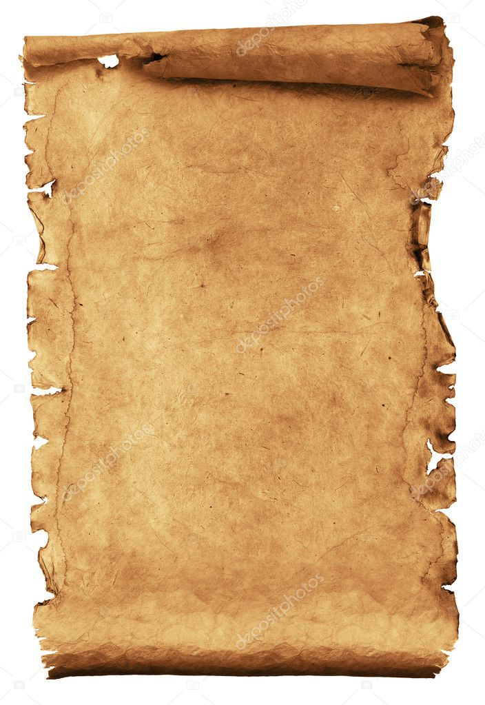 Ancient manuscript isolated over a white background — Stock Photo #1336392