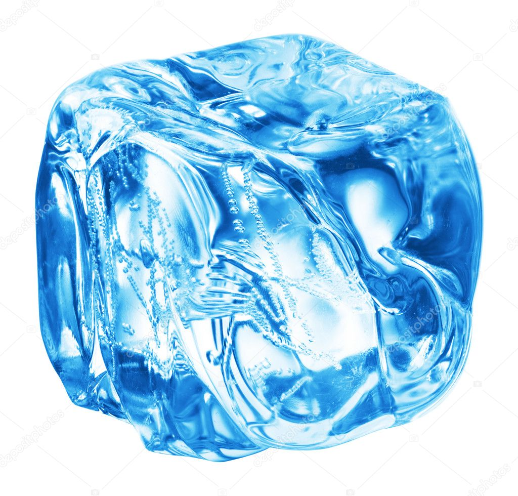 Close up view of the ice cubes in water  Stock Photo #1336797