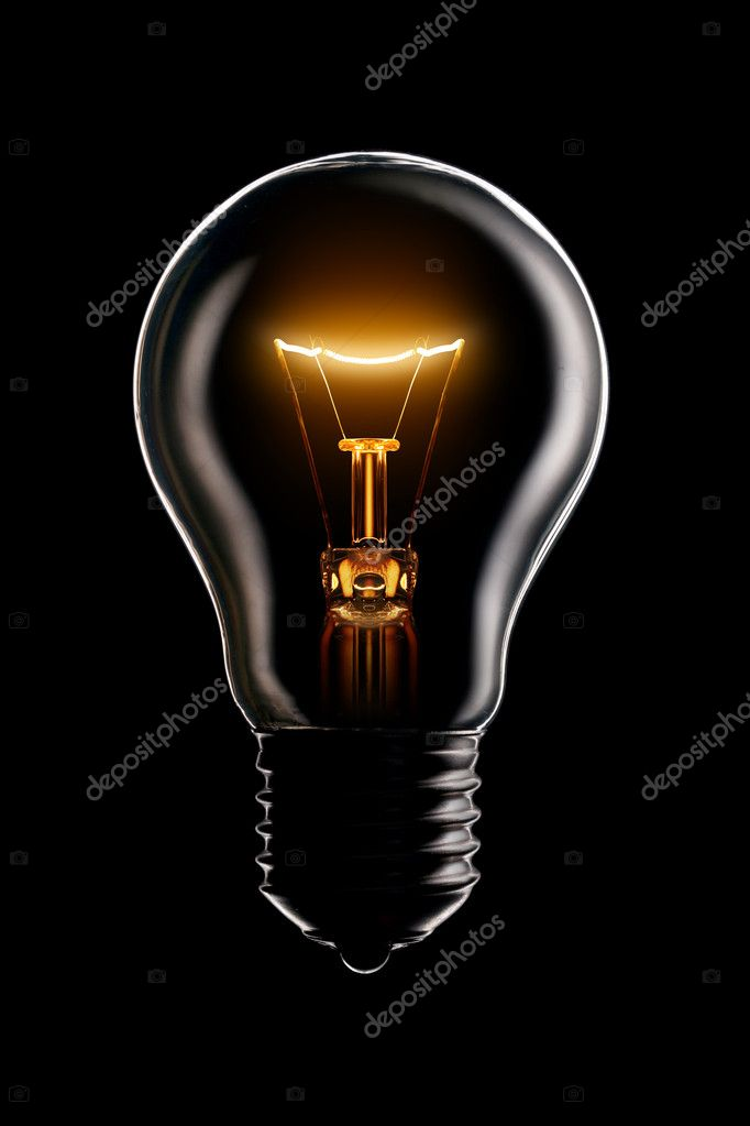 Glowing lamp on black background — Foto Stock #1337687