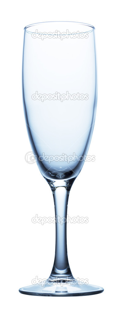 champagne glass clear isolated on white — Photo #1337804