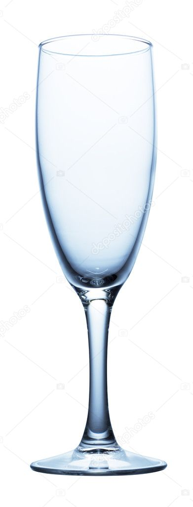 champagne glass clear isolated on white — Foto Stock #1337804