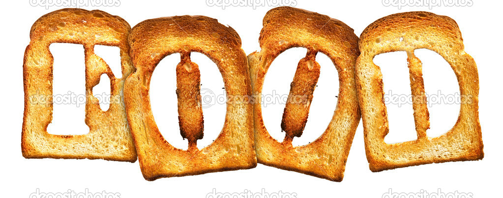 Isolated Letter of Toast alphabet on white  Stock Photo #1337963