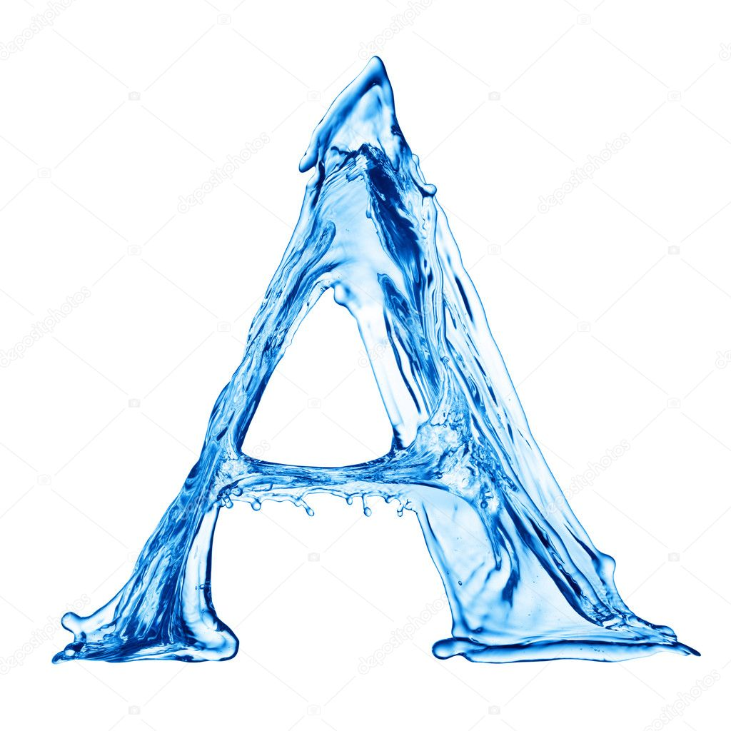 One letter of water alphabet — Stock Photo #1338097
