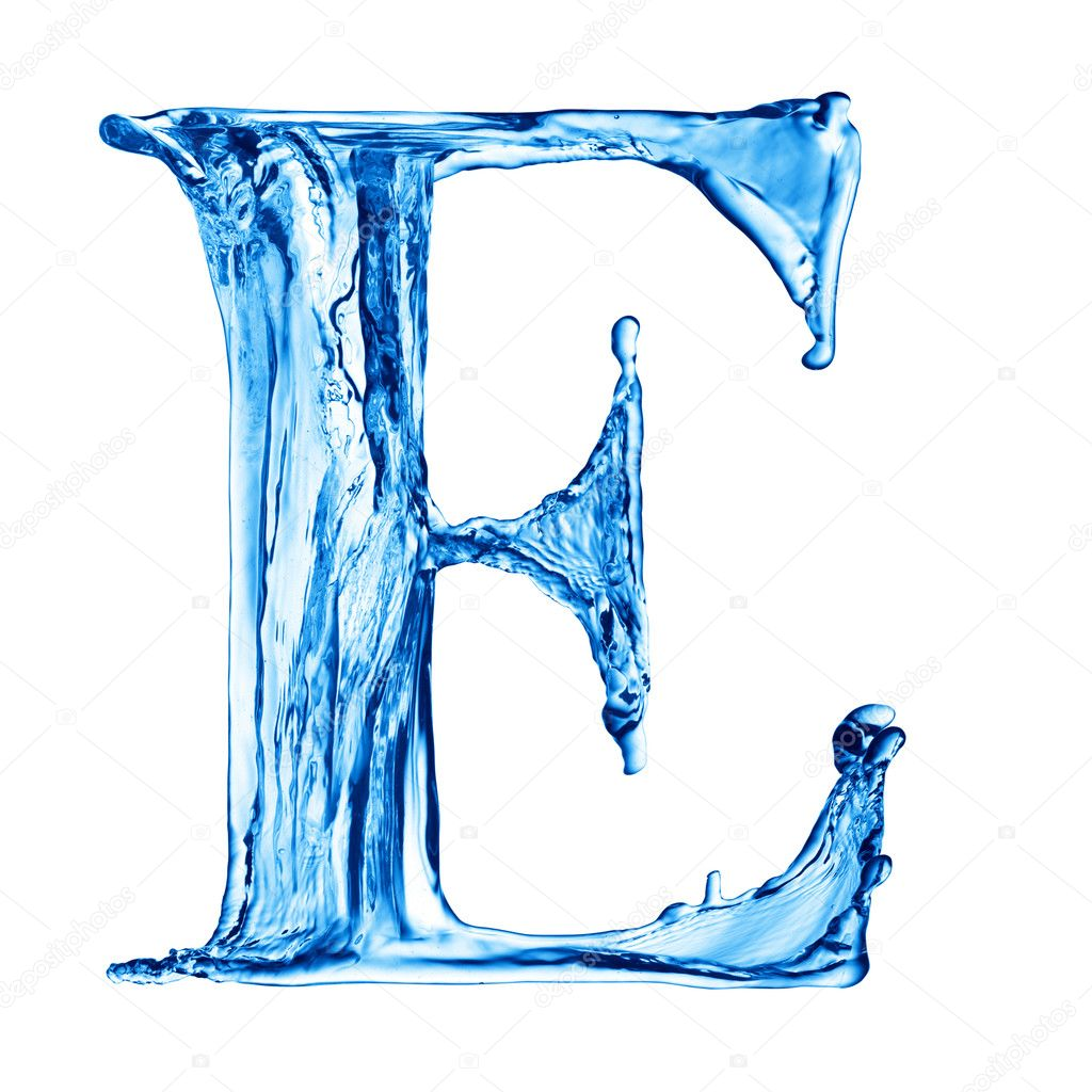One letter of water alphabet  Stock Photo #1338149