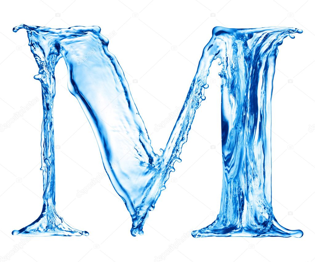 One letter of water alphabet  Stock Photo #1338266