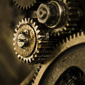 View of gears from old mechanism — Fotografia Stock