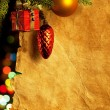 Christmas fir tree with colorful lights — Stockfoto