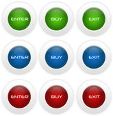 Glass buttons — Stock Photo