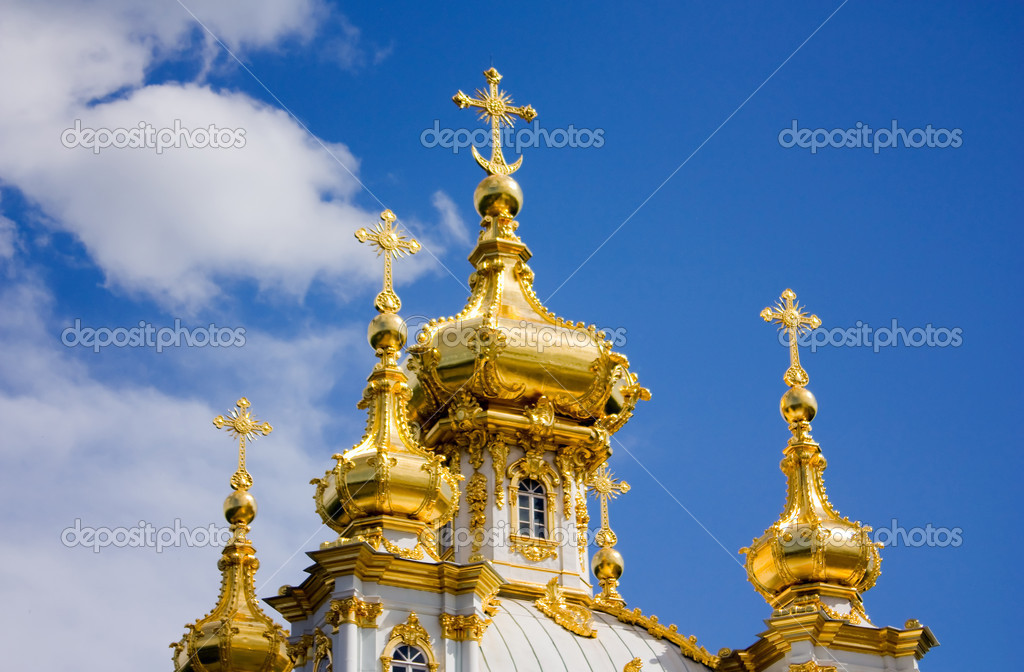 Petrodvorets Church — Stock Photo #1207549