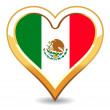Royalty-Free Stock Immagine Vettoriale: Heart Mexico Flag