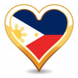 Heart Philippines Flag — Stock Vector