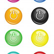 Switch off Buttons - Stock Vector