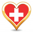 Royalty-Free Stock Vector Image: Heart Switzerland Flag