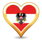 Heart Austria Flag — Stock Vector