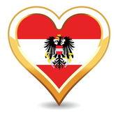 Heart Austria Flag — Stock Vector