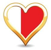 Drapeau de Bahreïn de coeur — Vecteur