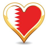 Heart Bahrain Flag — Stock Vector
