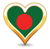 Heart Bangladesh Flag — Stock Vector