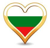 Heart Bulgaria Flag — Stock Vector